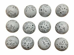 Music Golf Balls (12 Pack)