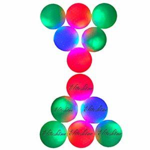 New Practice Range LED Flashing Golf Balls (14-Piece Mixed Colors)
