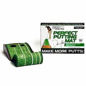 Perfect Practice Tapis de Putting Parfait pour l'intérieur et l'extérieur avec Retour Automatique de Balle