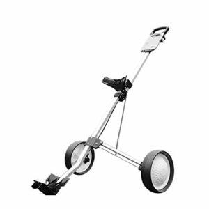 qiuqiu Chariot de golf professionnel pliable à 2 roues pour sac de golf en plein air Match Sports Voyage Bagage aéroport Chariot de golf