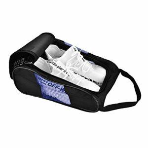 RiToEasysports 2Colors Golf Shoe Carry Bag Sports Shoe Bag Carry Tote Bag Storage Pouch pour Sport Golf Tennis(Noir et Bleu)
