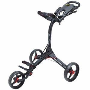 Sac Boy Compact 3Push Cart, Mixte, Compact 3 Push Cart – Matte Black/Red, Matte Black/Red