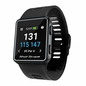 Shot Scope V3 Montre de Golf GPS Unisex-Adult, Noir, One Size