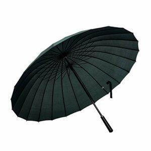 ThreeH Parapluie Grande Taille Unisexe Solide Coupe-Vent Doublé Canne Automatique Parapluie de Golf KS07,Green