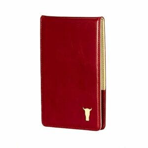 TORRO Etui Portefeuille de Golf pour Golf Carte de Pointage et Livre de Yardage en Cuir Véritable (Rouge)