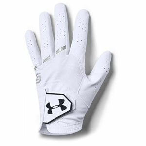 Under Armour Boys' Youth CoolSwitch Golf Glove,White (101)/Black, Youth Right Hand Large