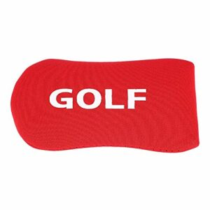 Vbestlife Golf Headcover, Putter Cover Nylon Golf Putter Cover Head Protect Protection Case Headcover Small and Lightweight(Rouge)
