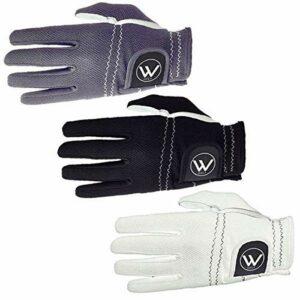 Walrus Funky Lot de 3 gants de golf S-XL Noir/blanc/anthracite/rouge/bleu/vert (noir/blanc/charbon, moyen/grand)