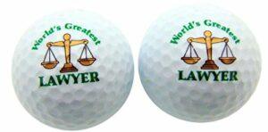 Westman Fonctionne World's Greatest Avocat Lot de 2en forme de balle de golf Fun Golf Gag Cadeau pour golfeur