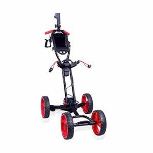XINTONGSPP Extérieur de Golf électrique Chariot, Pliable 4 Roues Golf Push Cart, Facile Carry et Move, pour Les Amateurs de Golf (10KG)