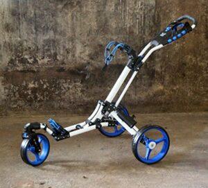 "Yorrx Chariot de Golf Manuel SL Pro 7 HAMMA ""Plus"" en Bleu, Alu-Pushtrolley/Golfwagen/Pushtrolley/Golfcart"