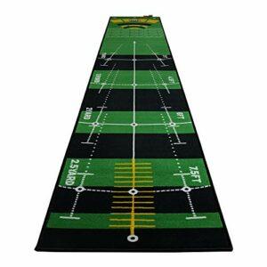 YX-lle Home Tapis de golf vert extra long 3 m pour la maison, le bureau, le jardin (multidirectionnel, épais, 300 x 50 cm)