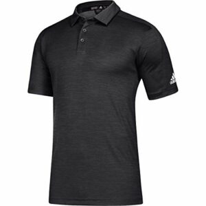 adidas Game Mode Polo – Men's Multi-Sport M Black Melange/White