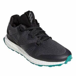 adidas Golf Hommes Adicross Crossknit 3 Chaussures de Golf – Noir/Vert – UK 8.5