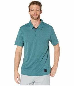adidas Golf Men's Adicross No-show Transition Polo, Tech Green Melange, Small