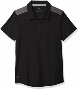 Adidas Golf Ultimate365 Polo à manches courtes, Femme, Polo, Ultimate365 Short Sleeve Polo, noir, Medium