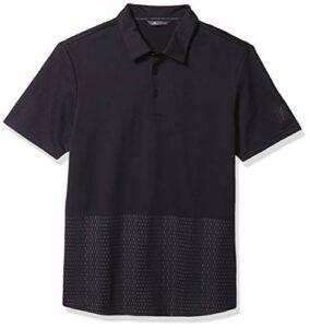 adidas Polo Adicross Fantaisie pour Homme, Homme, Polo, TM1506S20, Noir/Gris Carbone, L