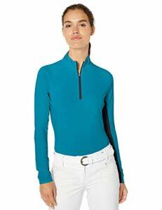 Adidas Ultimate Climacool Polo de golf à manches longues pour femme, Femme, Manches longues, Ultimate Climacool Long Sleeve Polo, Active Teal, X-Small