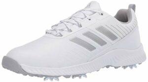 Adidas W Response Bounce 2 Chaussure de golf pour femme, Blanc (Ftwr blanc/argenté métallisé/gris deux), 38 EU