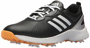 adidas Women's W Response Bounce Golf Shoe, core Black/FTWR White/Real Gold s, 10 Medium US