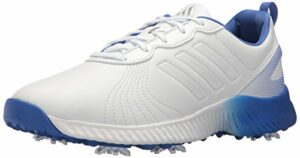 adidas Women's W Response Bounce Golf Shoe, FTWR White/hi-res Blue, 8.5 Medium US