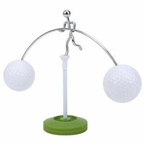 Alomejor Cadeau de Golf Support d'équilibre de Balle de Golf avec Base pour la décoration de la Maison et la décoration de Bureau de Bureau d'amour de Golf
