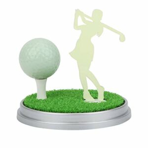 Alomejor Ensemble Cadeau de Golf Ensemble de décoration de Bureau de Golf Lumineux Ensemble de Mini-Golf avec Base magnétique pour la décoration de Voiture