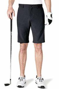 aoli ray Homme Golf Short Imperméable Léger Extensible Pantalon Court avec 4 Poches Noir 38 Taille