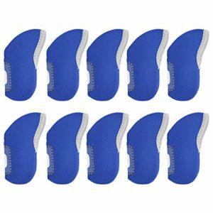 Asixxsix Couverture de Club de Fer, Protecteur de tête de Putter, Protecteur de Putter Longue durée de Vie. 10pcs Couverture de tête de Putter avec Une Conception Pratique pour la(Blue)