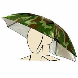 Bandeau élastique Motif de Camouflage Soleil Pluie Parapluie Chapeau Bonnet pour la pêche Plage Golf armée Verte Main Libre chapellerie Ombre Jardinage Photographie Marche Chapeau, Multi Couleur n