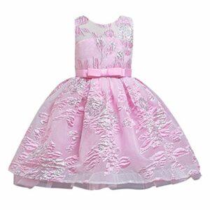 Beikoard Robes Filles Bébé des Fleurs Maille Princesse Dress sans Manches Enfants Vêtements Tutu Jupe1