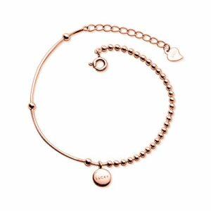 BENGKUI Bracelet en Argent Femme 925,Bracelet De Mode Lucky Pendentif Bracelet Cadeau D'Anniversaire pour Les Filles Amis Bracelets Charme pour Les Cadeaux D'Anniversaire des Femmes pour Maman Femme
