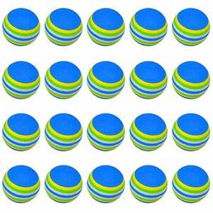 BETOY Practise Balles de Golf, 20 PCS, Mousse, Rainbow, Couleur, Jeux Balles de Sport, pour l'intérieur/Extérieur Golf Practise(bleu)
