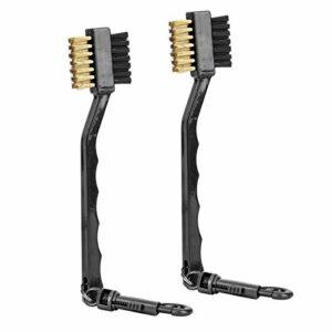 Brosse de nettoyage portable longue durée de vie poils double face brosse club poils en nylon, pour le nettoyage(black)