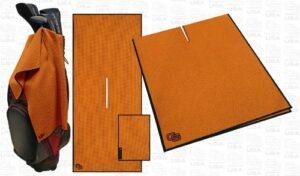 CADDY gOLF club gants mICROFIBER towel sET golfhandtuch towel serviette-pocket/schlägertuch Argile