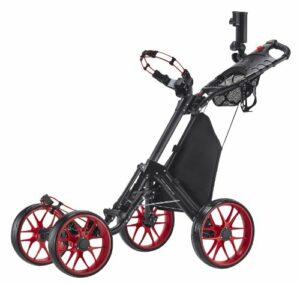 Caddytek en Un Seul Clic Pliable Version 3à 4Roues Chariot de Golf, Red
