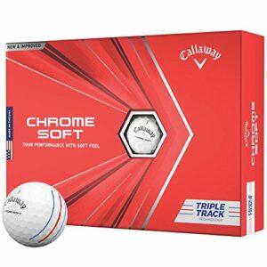 Callaway Balles de Golf Chromées, Taille Unique, Blanc
