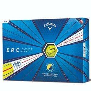 Callaway Erc Soft Triple Track 19 Balle de golf pour homme, Homme, jaune, One Dozen