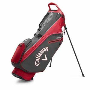 Callaway Lite Zero Stand Bag 2020 Sacs Chariots Adulte Unisexe, Charbon/Rouge, Taille Unique