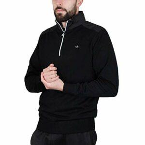 Calvin Klein Golf Mens Extend Doublé Pull – Noir – M