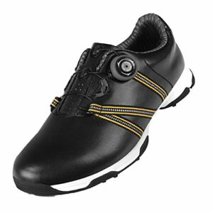 Chaussures de Golf Imperméables pour Hommes,Baskets de Golf Légères et Confortables,avec des Pointes Antidérapantes Amovibles, des Chaussures D'entraînement de Club de Golf Résistantes À l'usure