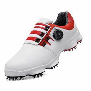 Chaussures D'entraînement de Golf Imperméables Pour Hommes,Chaussures de Golf Légères et Confortables Respirantes ,Chaussures de Sport de Golf Avec Crampons Antidérapants,Chaussures de Golf Club