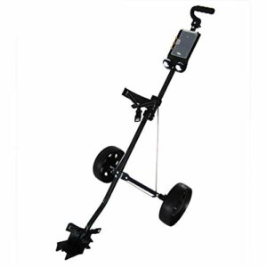 DWXN 2 Roues Trolley Golf Fold Voiturette de Golf Noir Acier Golf Chariot