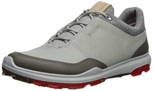 ECCO Mens Biom Hybrid 3 GTX, Chaussures de Golf Homme, Gris (Concrete/Scarlet 50943), 40 EU