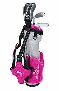 Ensemble de Golf Ultra léger avec Sac de Golf pour Enfants américains 2017 (39″ Hauteur), 13561, argenté/Rose