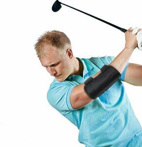 Entraînement au Swing Golf, Coudière Support pour Coude Posture de Swing, D'orthèse de Coude D'entraînement de Pratiquant, Aide Entraînement Correcteur avec Notifications sonores Tok-Tok