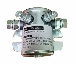 EZGO Solenoid Replaces E-Z-Go: 27855G01, Fits E-Z-Go: Electric, 1986 and Newer, Hardware Included, 36V, #124 Series