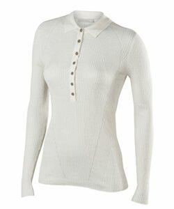 FALKE Damen Langarmshirt Portofino, Seide/Leinen, 1 Stück, Weiß (White 2860), Größe: S