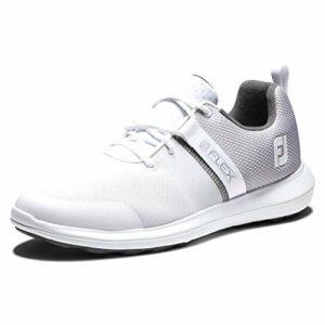 Footjoy Flex, Chaussure de Golf Homme, Blanco/Gris/Azul, 39 EU