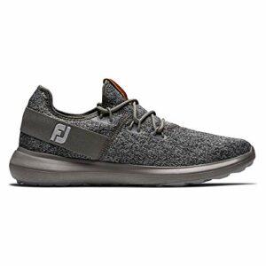 Footjoy Flex, Chaussure de Golf Homme, Coastal Black/Charcoal, 45 EU